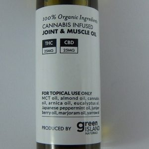Cannabis Joint and Muscle Oil